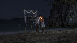 Thumbnail image for Polly & Jared's wedding eve at the private island of Hidden Beach Villa