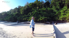 Thumbnail image for Our castaway Gauthier Toulemonde visiting the island of Siroktabe