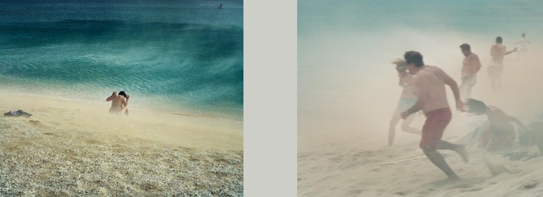 Escenario apocalíptico en la playa