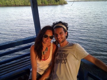 Laura and Javi on the ferry on their last day