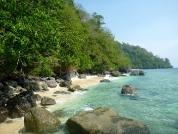 One of the beaches of the island