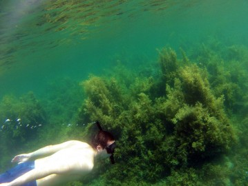 Yoann doing some snorkelling in the area