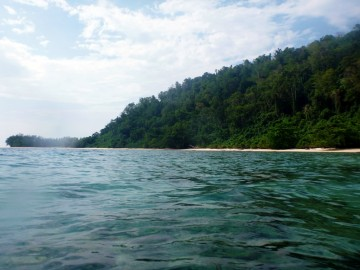 View of Siroktabe from the reef
