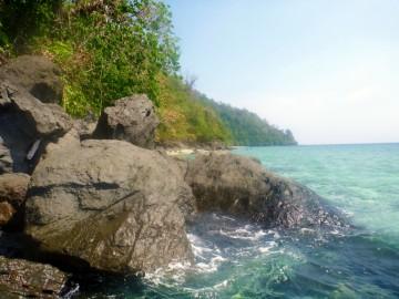 Rocks on the desert island of Ian