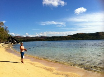Fishing in the morning at Marooning