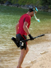 Franck going fishing…………but his heart wasn't in it!!