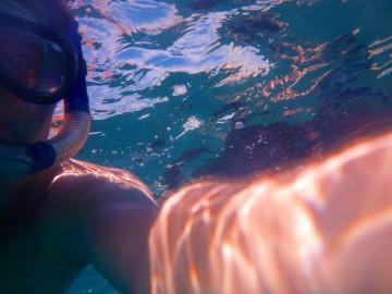 Timo snorkeling