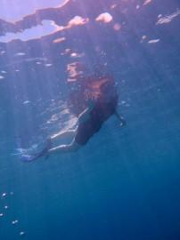 Catherine snorkeling