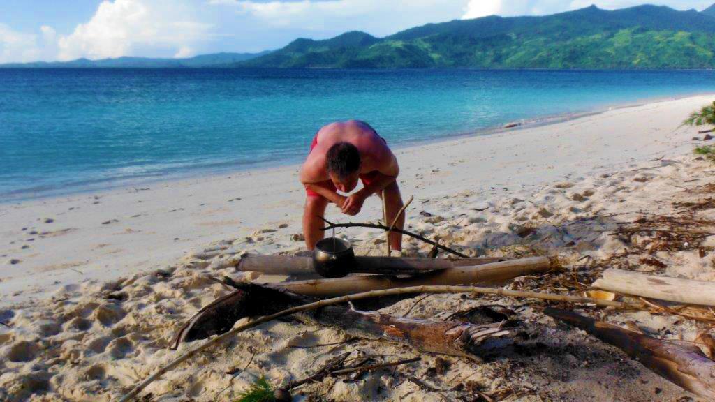 Russell preparing dinner