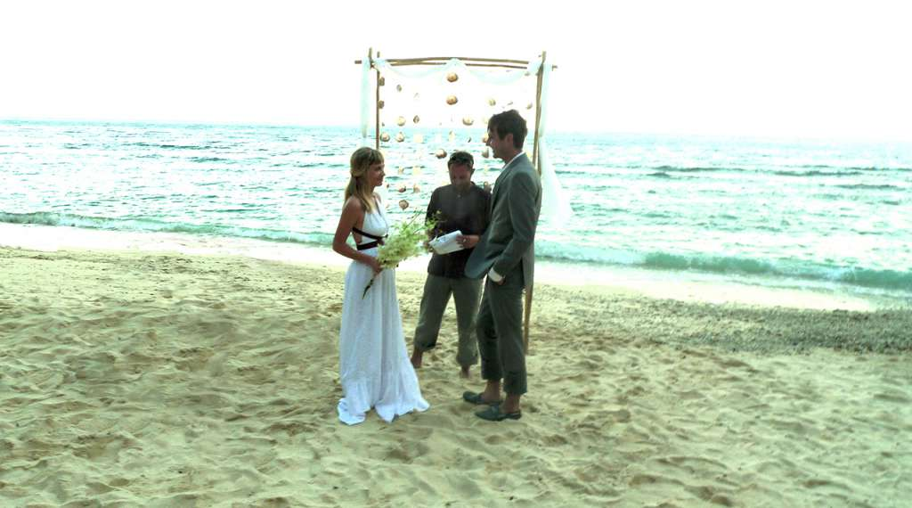 desert island wedding