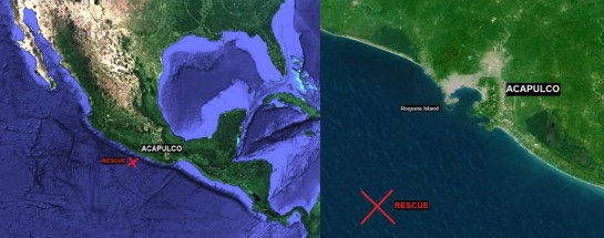 Map Ice Box Container  Mexico Fishermen Castaway Acapulco Raymundo