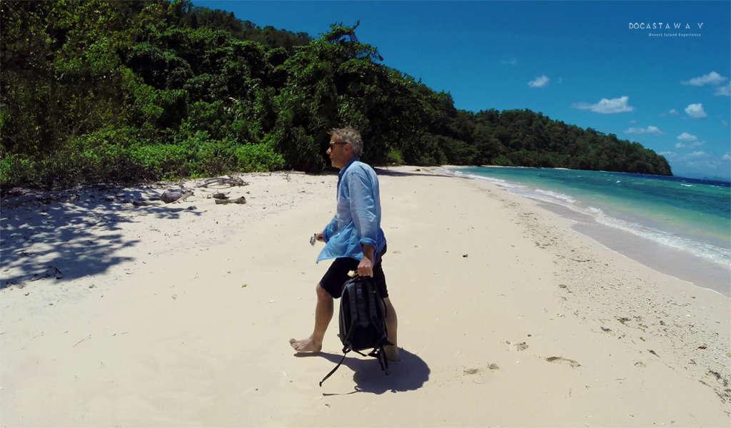 Gauthier recien aterrizado en la isla