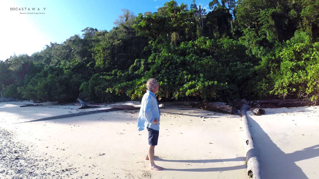 Gauthier stops to look at Siroktabe's majestic jungle