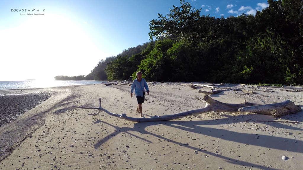 Gauthier walking on Siroktabe's beach