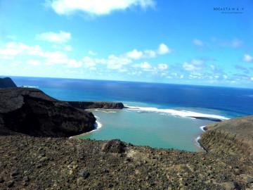 Hunga Tonga Lake crater