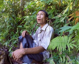 Ho Van Lang arriving to his jungle house for the first time after 3 years
