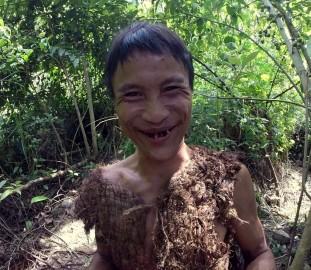 Ho Van Lang laughing