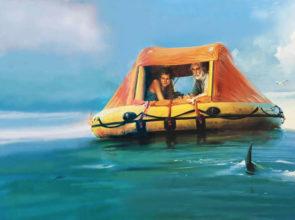 Bill Butler Salazar and Simonne. 66 Days Adrift